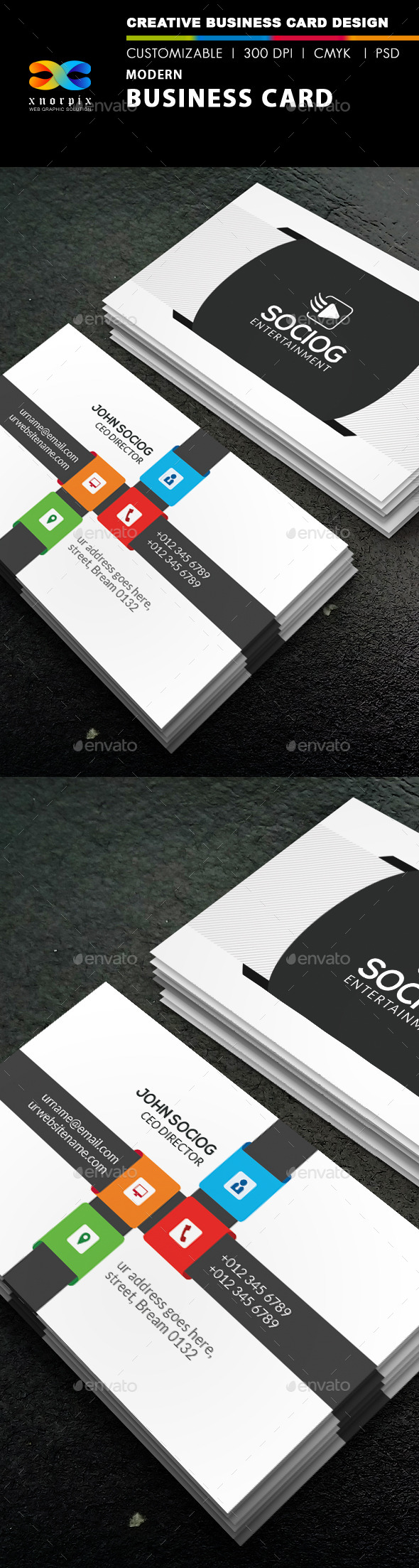 GraphicRiver Modern Business Card 8906959