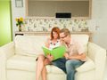 romantic couple reading a book together - PhotoDune Item for Sale