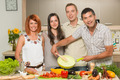 happy friends cooking dinner - PhotoDune Item for Sale