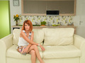 woman sitting on a couch, relaxed - PhotoDune Item for Sale