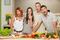 friends acting surprised while cooking - PhotoDune Item for Sale