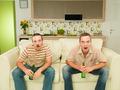 two men watching tv - PhotoDune Item for Sale