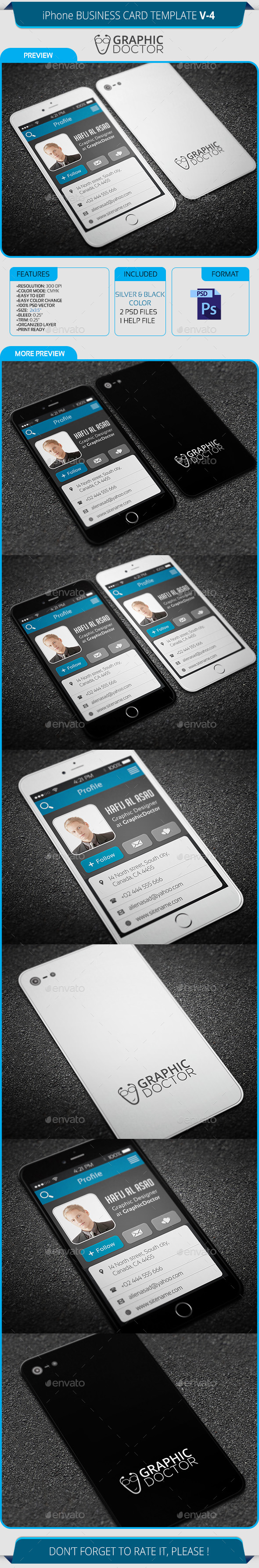GraphicRiver iPhone Business Card Template V-4 8907051