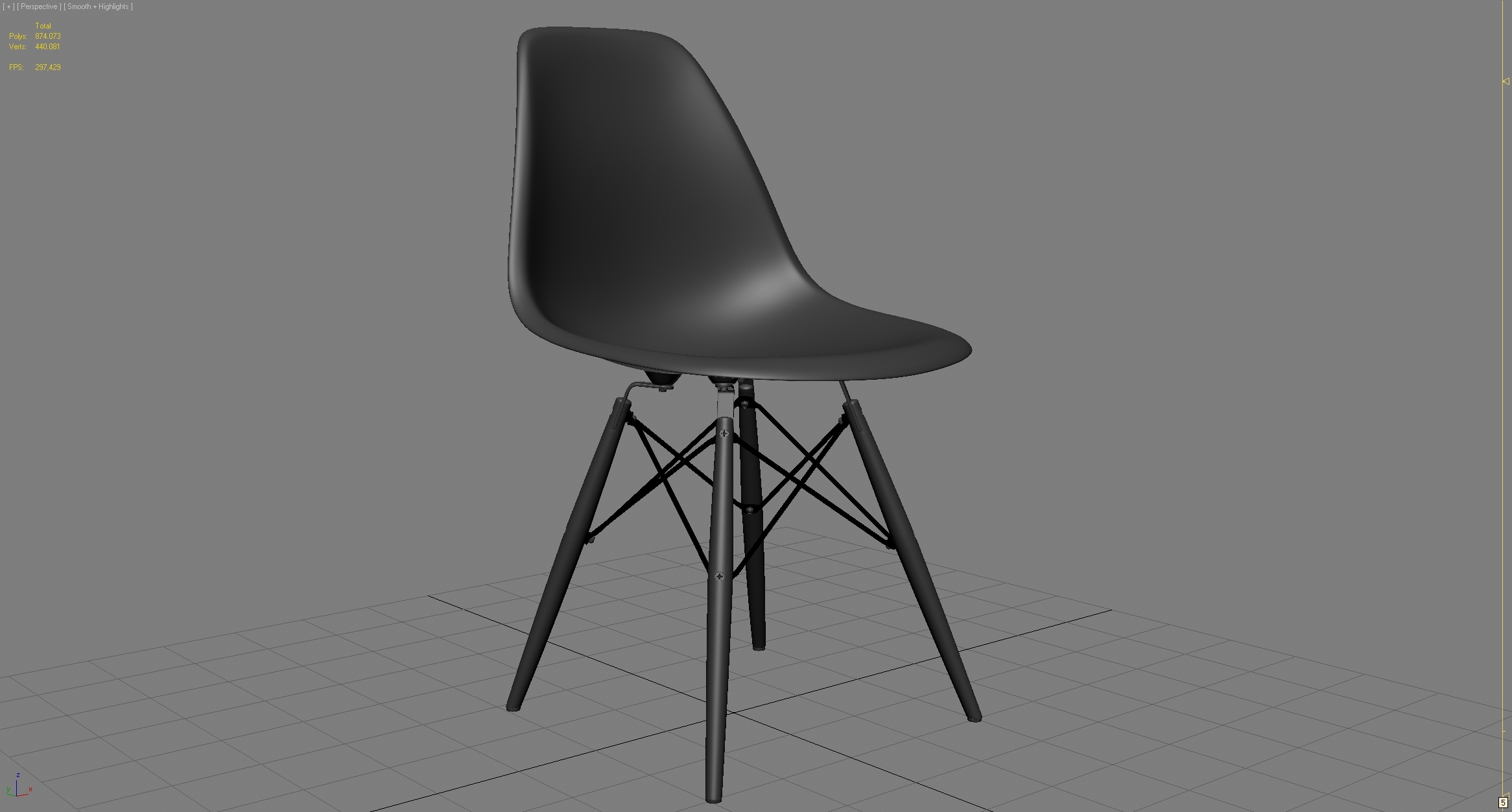 vitra eames plastic dsw chair by cgstar 3docean. Black Bedroom Furniture Sets. Home Design Ideas