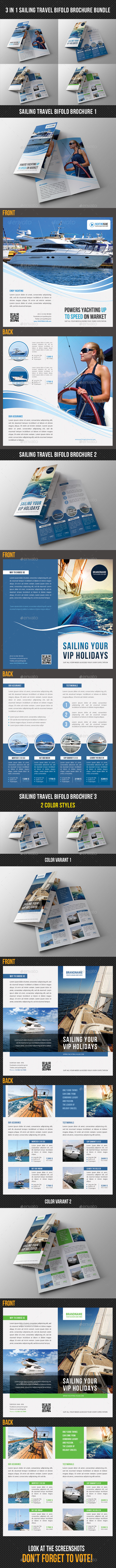 GraphicRiver 3 in 1 Sailing Travel Bifold Brochure Bundle 8897717