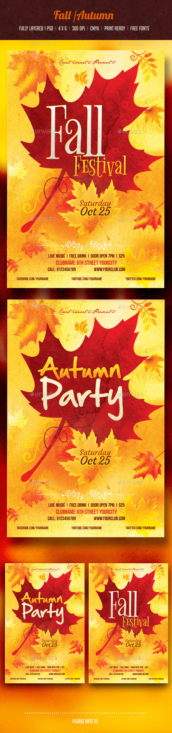 GraphicRiver Autumn Fall Flyer 8907391