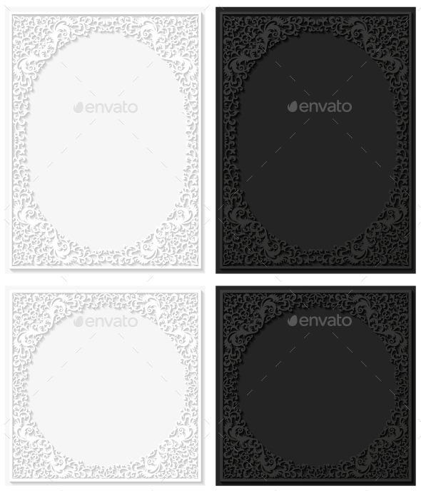 GraphicRiver Paper Floral Frame 8907526