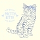 Kitten Sketch with a Bow - GraphicRiver Item for Sale