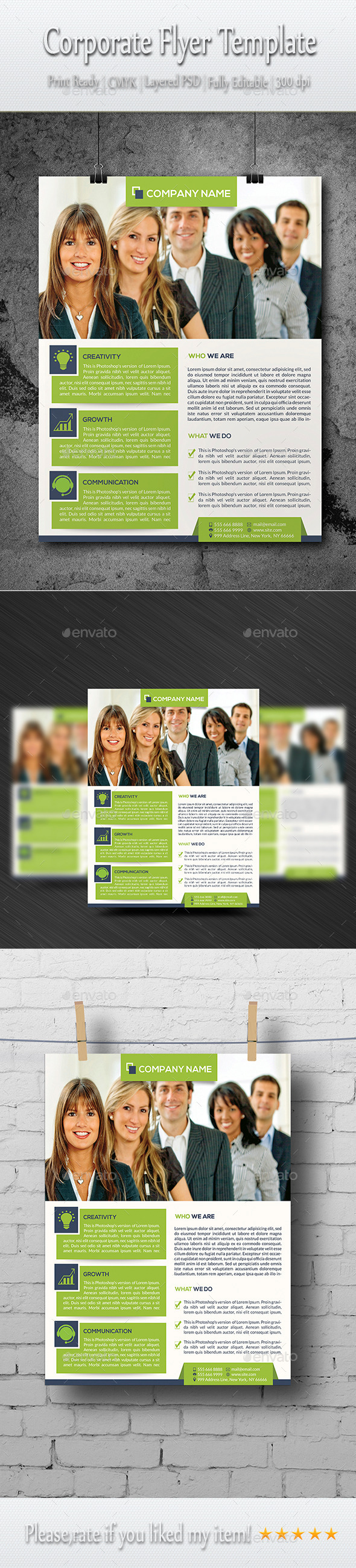 GraphicRiver Business Flyer Template 8907883