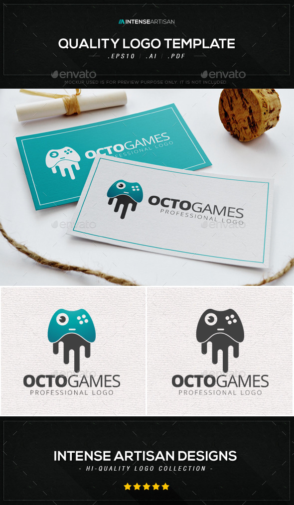 GraphicRiver Octo Games Logo Template 8908038