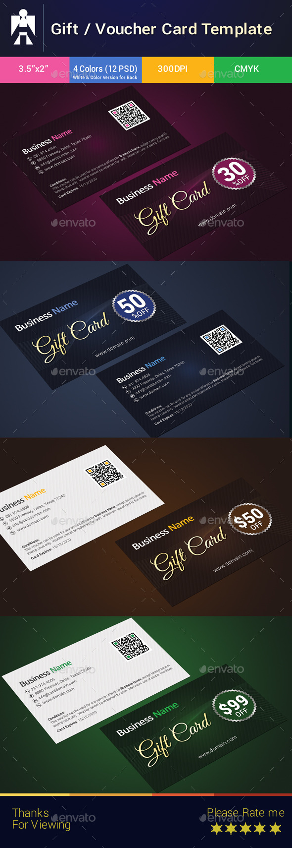 GraphicRiver Premium Gift Card Gift Voucher Template 8897200