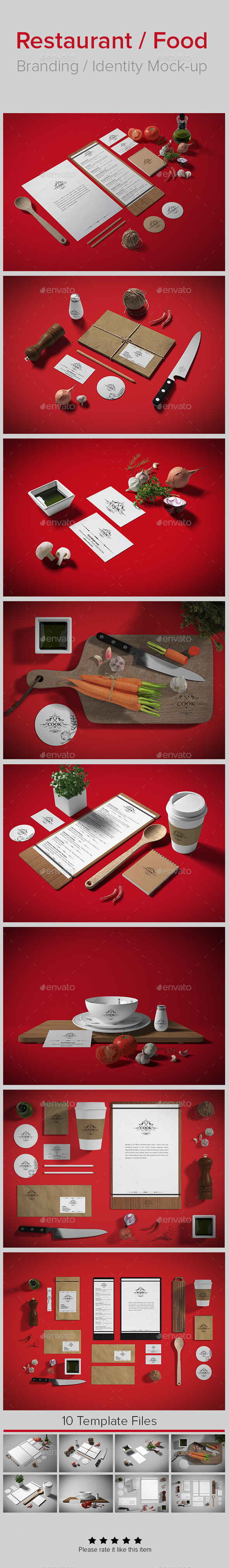 GraphicRiver Restaurant Food Branding Identity Mock-up 8908478