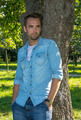 Young Man Standing at Tree in Park in Summer - PhotoDune Item for Sale