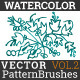 Watercolor Vector Pattern Brushes Vol.2 - GraphicRiver Item for Sale