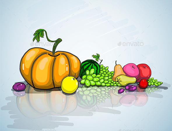 GraphicRiver Autumn Still Life 8909058