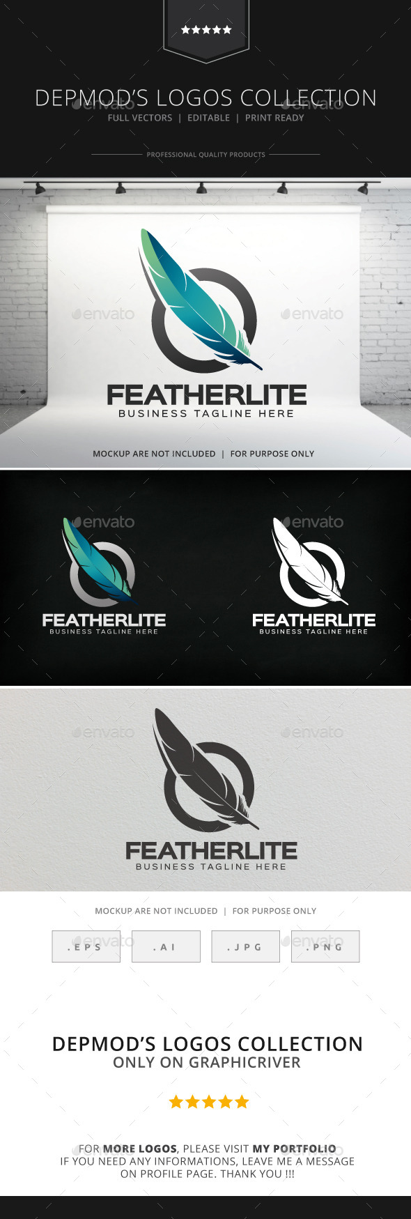 GraphicRiver Featherlite Logo 8909598