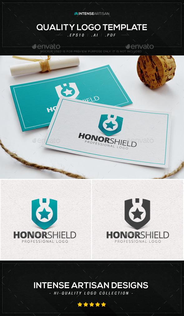 GraphicRiver Honor Shield Logo Template 8909678