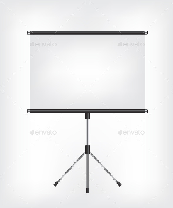 GraphicRiver Blank Projection Screen 8909790