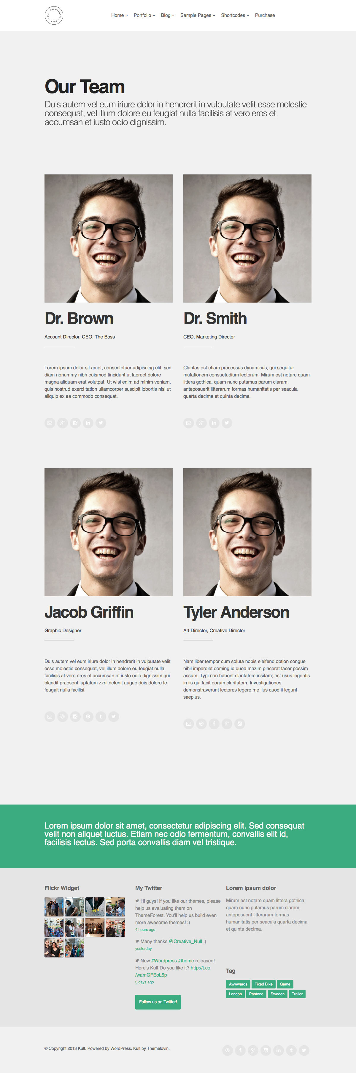 Kult: Creative & Agency Bold Portfolio Theme