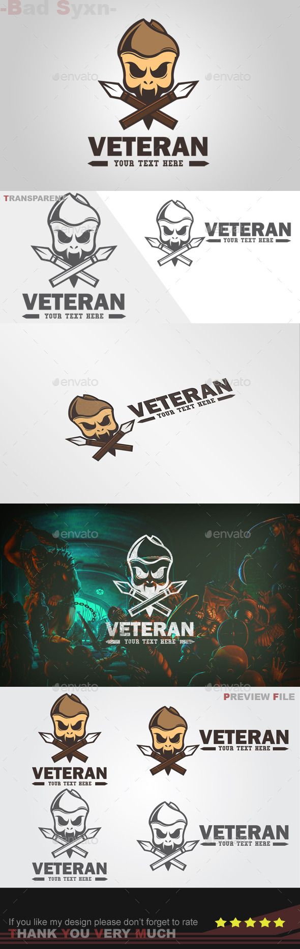 GraphicRiver Veteran Logo Template 8893242