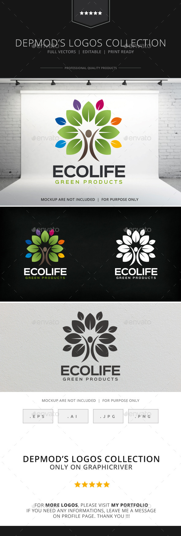 GraphicRiver Eco Life Logo 8910015