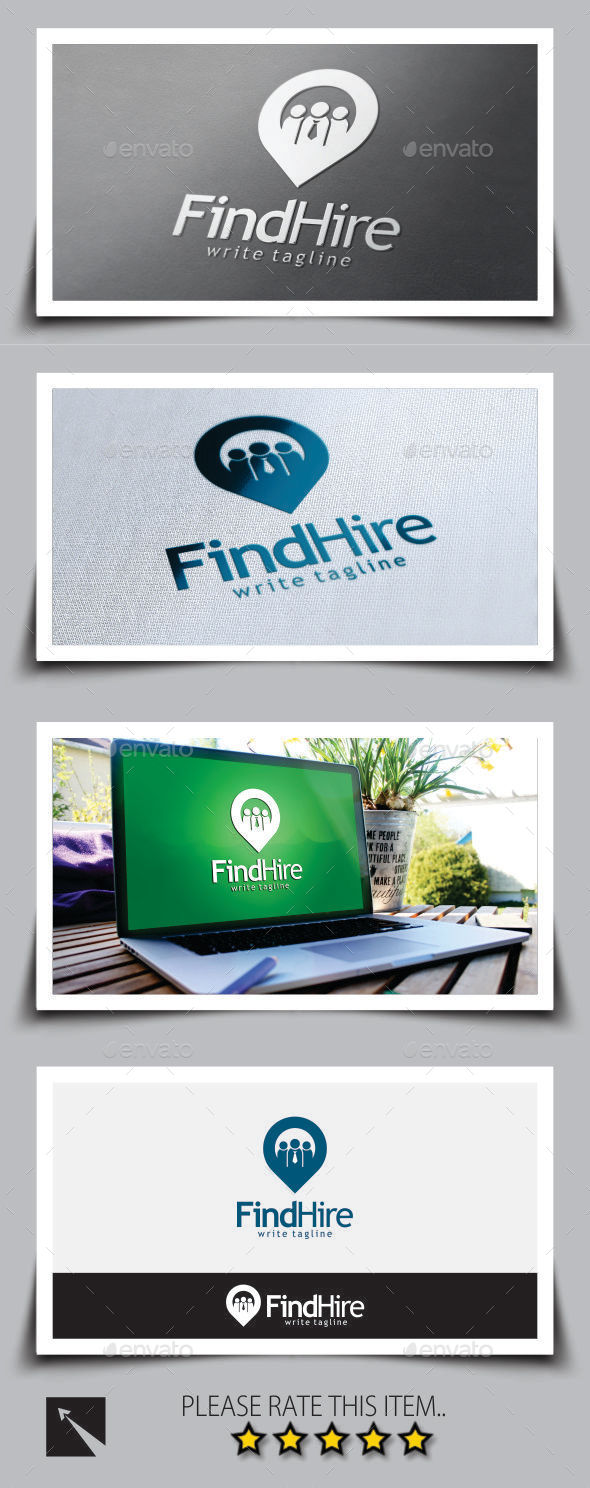 GraphicRiver Find Jobs Logo Template 8898332
