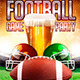 Football Game Party Flyer Template - GraphicRiver Item for Sale