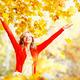 Happy woman in autumn park  - PhotoDune Item for Sale