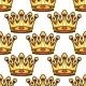 Seamless Pattern of Medieval Royal Crowns  - GraphicRiver Item for Sale