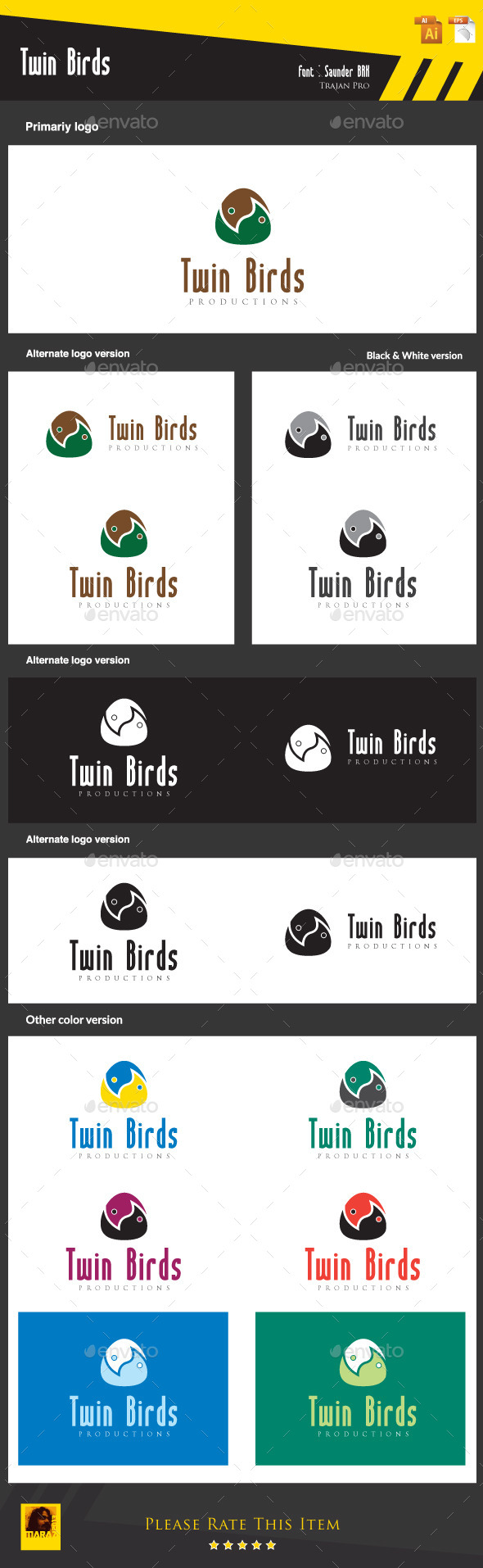GraphicRiver Twin Birds 8851713