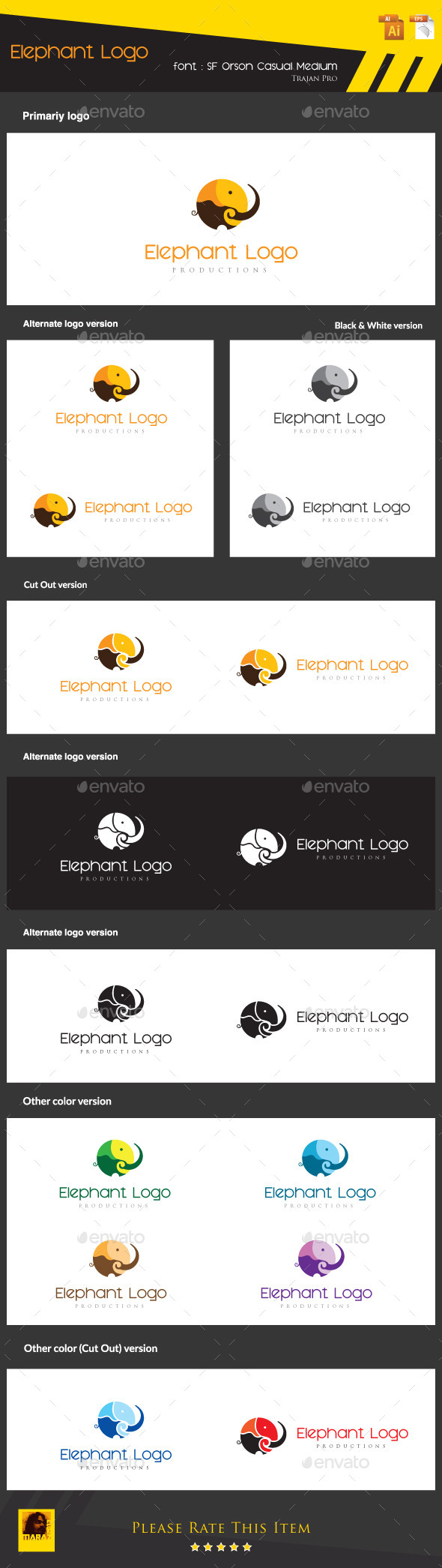 GraphicRiver Elephant Logo 8824894