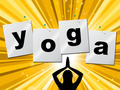 Yoga Pose Shows Meditate Zen And Posture