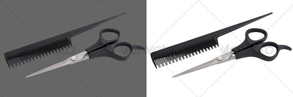 GraphicRiver Scissors & Comb 37375