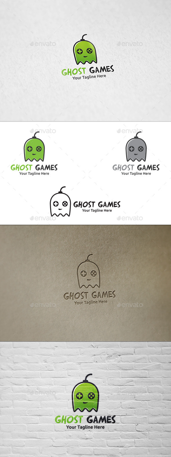 GraphicRiver Ghost Games Logo Template 8911201