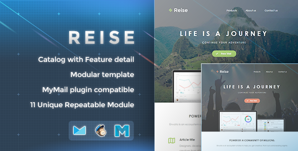 ThemeForest Reise Responsive Email Template 8911278