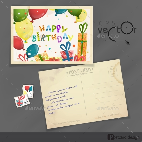 GraphicRiver Old Postcard Design Template 8911297