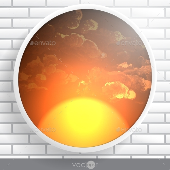 GraphicRiver Abstract Round Shape With Frame 8911364