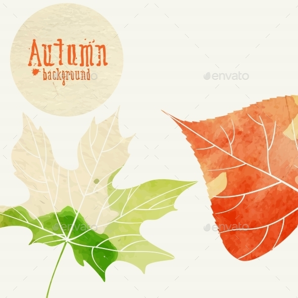 GraphicRiver Simple Autumn Background 8911383