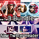 3 New Twitter Profile Header Bundle - GraphicRiver Item for Sale