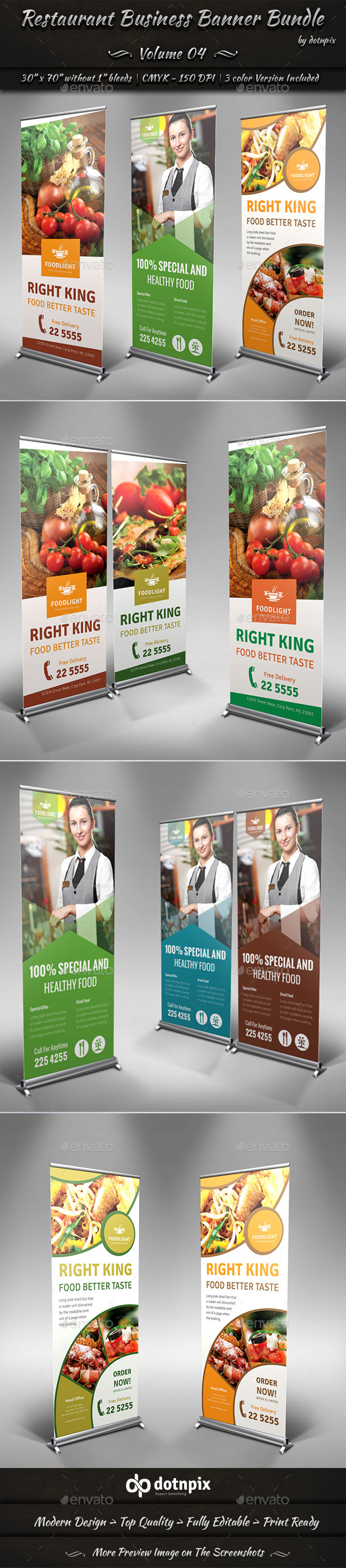 GraphicRiver Restaurant Business Banner Bundle Volume 4 8911776