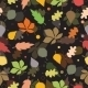 Seamless Pattern of Autumn Leaves. Various leaves  - GraphicRiver Item for Sale