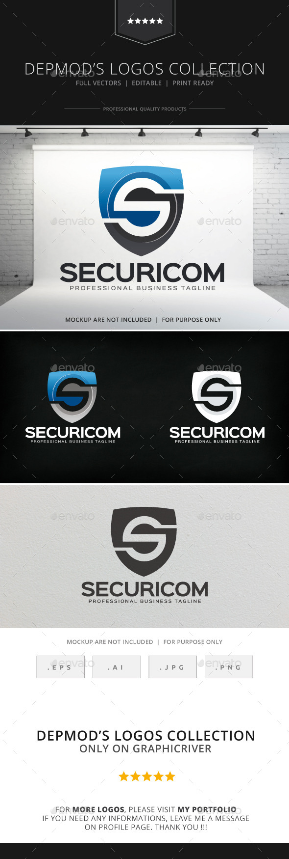 GraphicRiver Securicom Logo 8912413