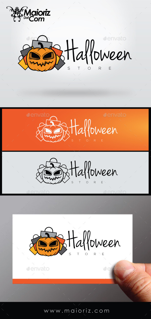 GraphicRiver Halloween Store Logo 8912426