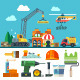 Construction. Process, Tools and Materials. - GraphicRiver Item for Sale