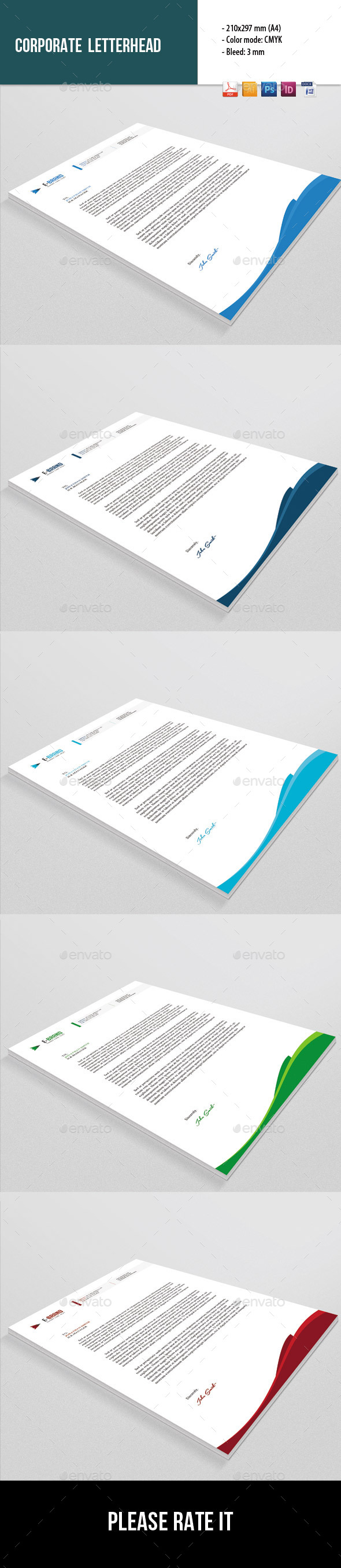 GraphicRiver Corporate Letterhead Template 8912718