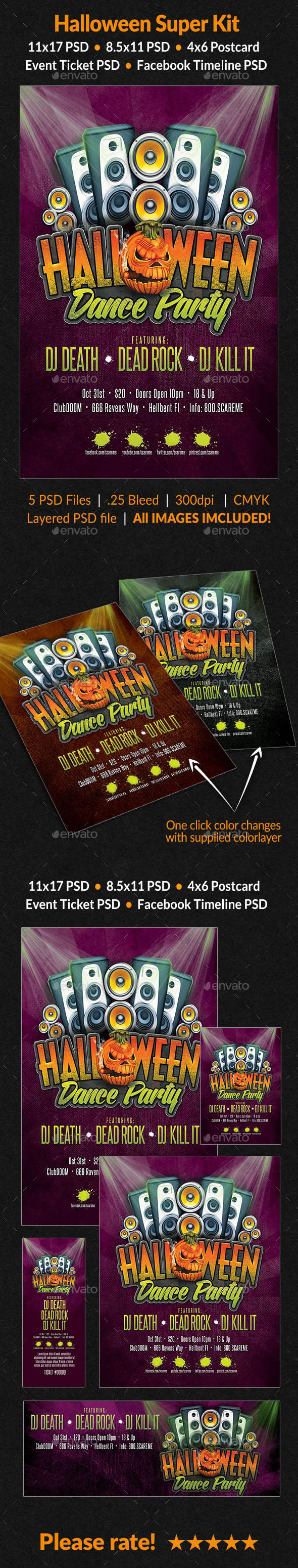 GraphicRiver Halloween Super Bundle 8894912
