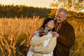 Couple in love embracing in autumn sunset - PhotoDune Item for Sale