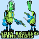 Alien Sprite Sheet - GraphicRiver Item for Sale