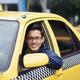 Portrait taxi driver smile car driving happy - PhotoDune Item for Sale