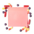 Colorful pills and paper for notes - PhotoDune Item for Sale